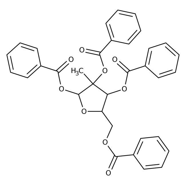 Alfa Aesar™1,2,3,5-Tetra-O-benzoyl-2-C-methyl-beta-D-ribofuranose, 98%