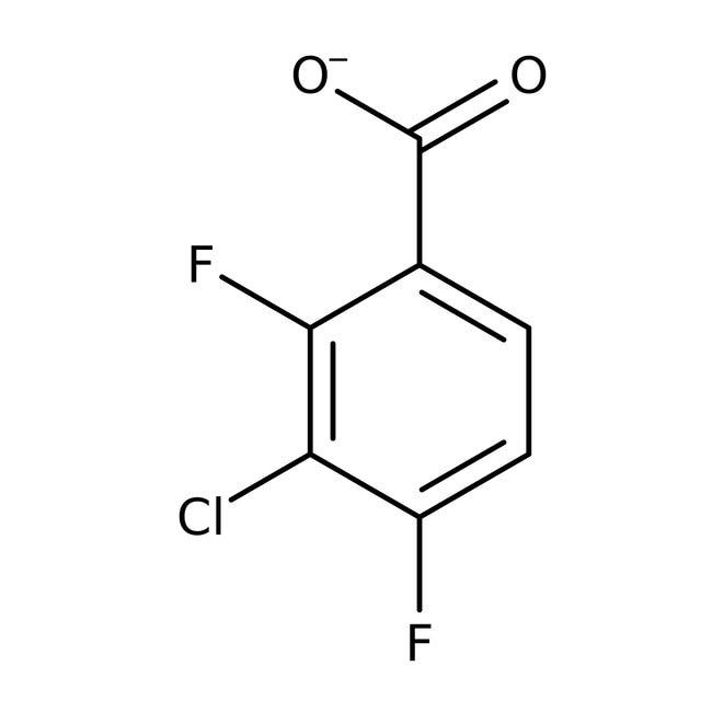Alfa Aesar™3-Chloro-2,4-difluorobenzoic acid, 97% 25g Alfa Aesar™3-Chloro-2,4-difluorobenzoic acid, 97%