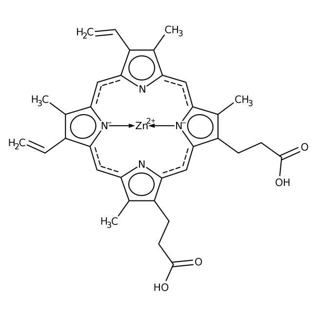 Alfa Aesar™Zinc protoporphyrin, 96% 50mg Alfa Aesar™Zinc protoporphyrin, 96%