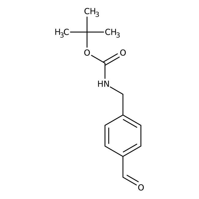tert-Butyl N-(4-formylbenzyl)carbamate, 97%, Maybridge™ Amber Glass Bottle; 5g tert-Butyl N-(4-formylbenzyl)carbamate, 97%, Maybridge™
