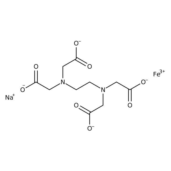 Alfa Aesar™Acide éthylènediaminetétraacétique, sel monosodique de fer(III) 500g Alfa Aesar™Acide éthylènediaminetétraacétique, sel monosodique de fer(III)