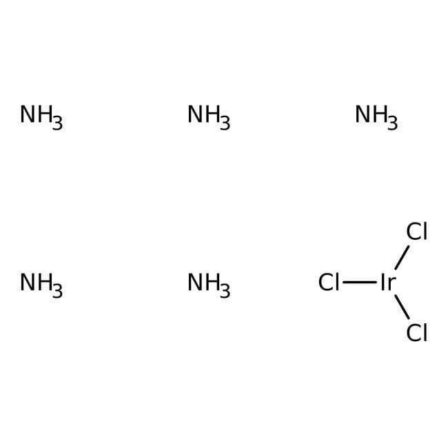 Alfa Aesar™Chloropentaammineiridium(III) chloride, 99.9% (metals basis), Ir 49.6% min 1g Alfa Aesar™Chloropentaammineiridium(III) chloride, 99.9% (metals basis), Ir 49.6% min