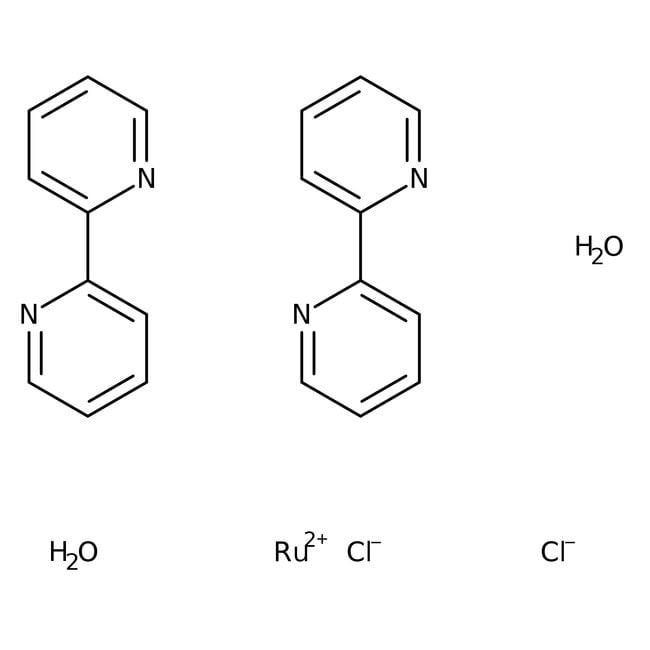cis-Dichlorobis(2,2'-bipyridine)ruthenium(II) dihydrate, 99%, ACROS Organics