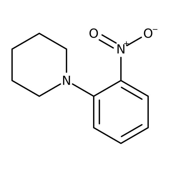 Alfa Aesar™1-(2-Nitrophenyl)piperidine, 98% 25g Alfa Aesar™1-(2-Nitrophenyl)piperidine, 98%