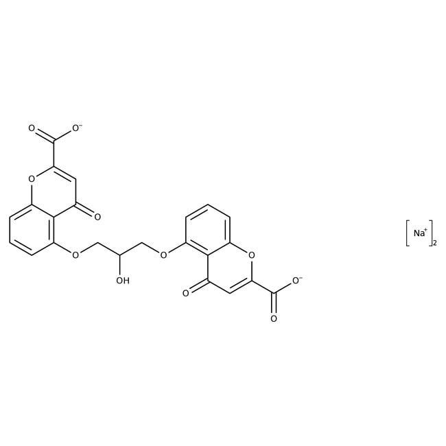 Alfa Aesar™Cromolyn-Natriumsalz, 98%: Organic acids and derivatives Organische Verbindungen