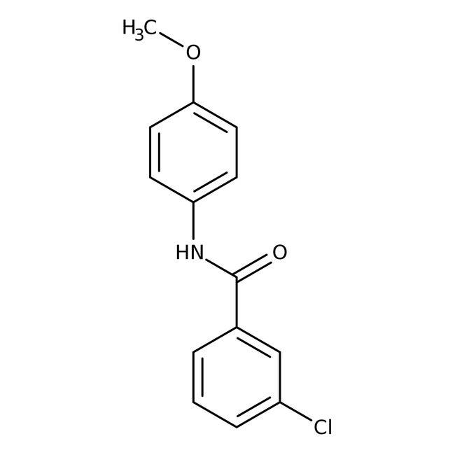 Alfa Aesar™3-Chloro-N-(4-methoxyphenyl)benzamide, 97% 250mg Alfa Aesar™3-Chloro-N-(4-methoxyphenyl)benzamide, 97%
