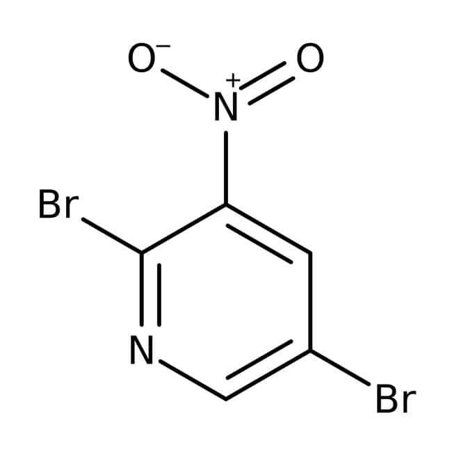 Alfa Aesar™2,5-Dibromo-3-nitropyridine, 98% 100g Alfa Aesar™2,5-Dibromo-3-nitropyridine, 98%