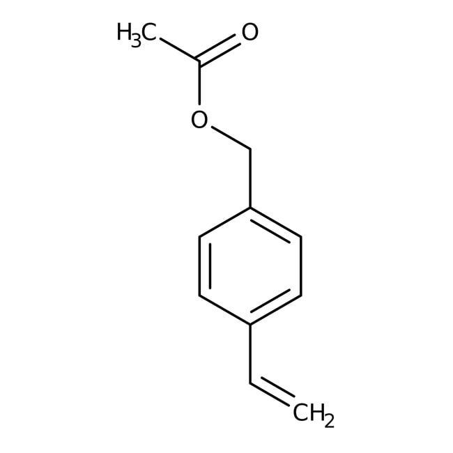 4-Vinylbenzyl acetate, 95%, stabilized, ACROS Organics™ 5g, Glass bottle 4-Vinylbenzyl acetate, 95%, stabilized, ACROS Organics™