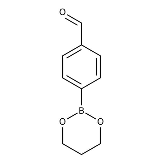 4-(1,3,2-Dioxaborinan-2-yl)benzaldehyde, ≥97%, Maybridge Amber Glass Bottle; 250mg 4-(1,3,2-Dioxaborinan-2-yl)benzaldehyde, ≥97%, Maybridge