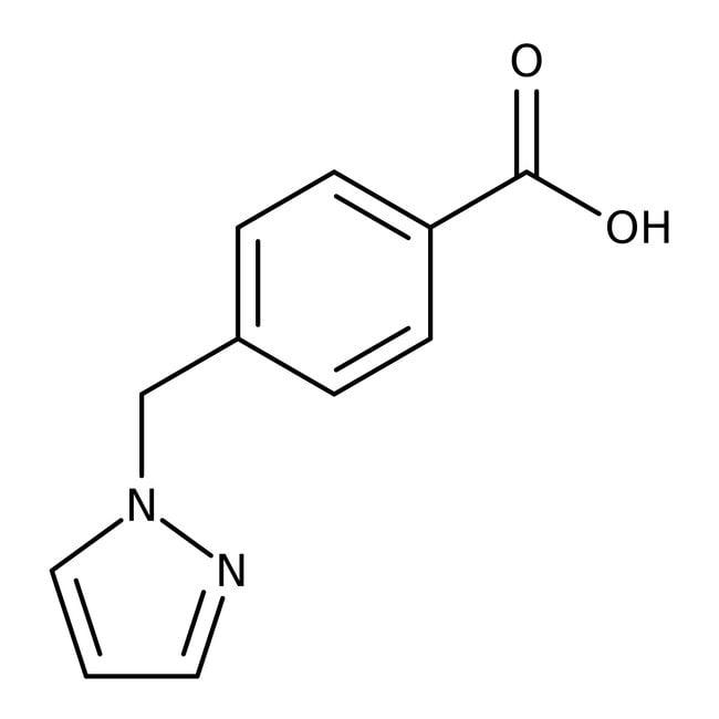 4-(1H-Pyrazol-1-ylmethyl)benzoic acid, ≥97%, Maybridge™ 10g 4-(1H-Pyrazol-1-ylmethyl)benzoic acid, ≥97%, Maybridge™