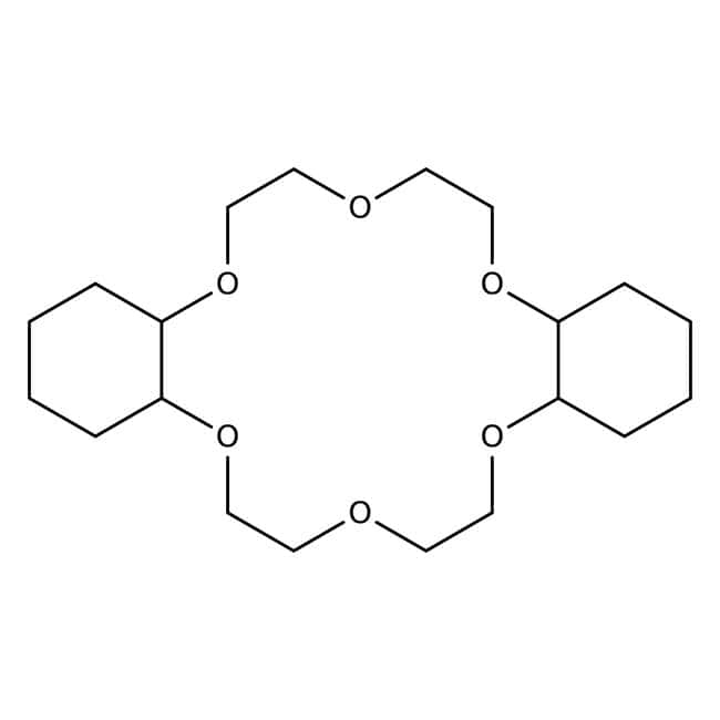 cis-Dicyclohexano-18-crown-6, 98%, mixture of syn-cis and anti-cis isomers, ACROS Organics™ 10g; Glass bottle cis-Dicyclohexano-18-crown-6, 98%, mixture of syn-cis and anti-cis isomers, ACROS Organics™