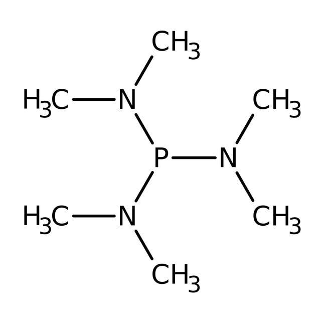 Hexamethylphosphorous triamide, 97%, ACROS Organics™ 50mL; Glass bottle Hexamethylphosphorous triamide, 97%, ACROS Organics™
