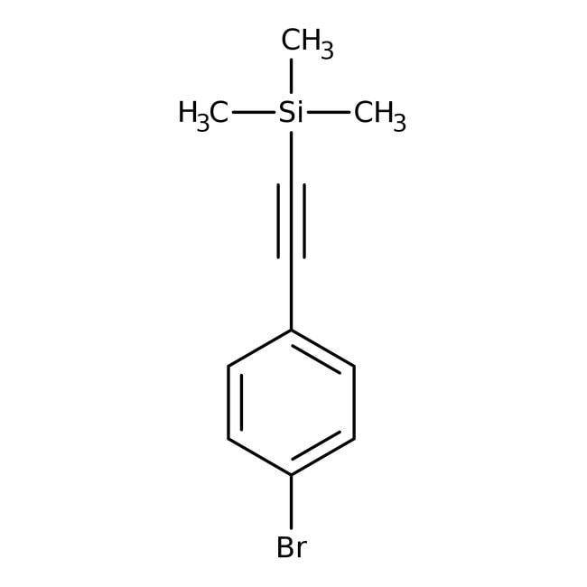 Alfa Aesar™(4-Bromophenylethynyl)trimethylsilane, 98%