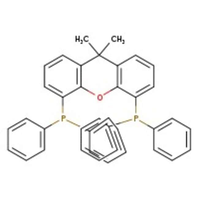9,9-Dimetil-4,5-bis(difenilfosfino)xanteno, 98%, ACROS Organics™ 1g; frasco de vidrio 9,9-Dimetil-4,5-bis(difenilfosfino)xanteno, 98%, ACROS Organics™