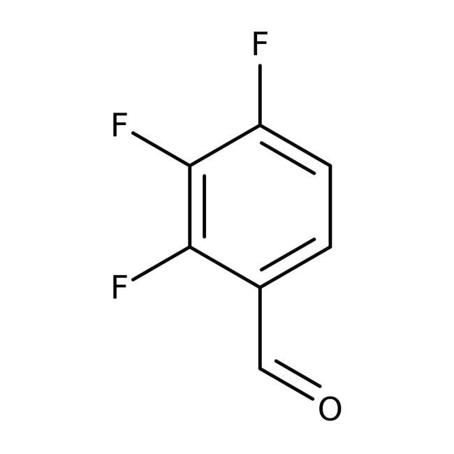 2,3,4-Trifluorobenzaldehyde, 98%, ACROS Organics™ 1g; Glass bottle 2,3,4-Trifluorobenzaldehyde, 98%, ACROS Organics™