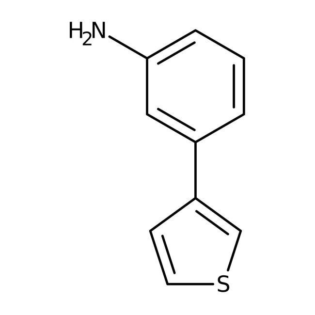3-Thien-3-ylaniline, ≥97%, Maybridge™ Amber Glass Bottle; 1g 3-Thien-3-ylaniline, ≥97%, Maybridge™