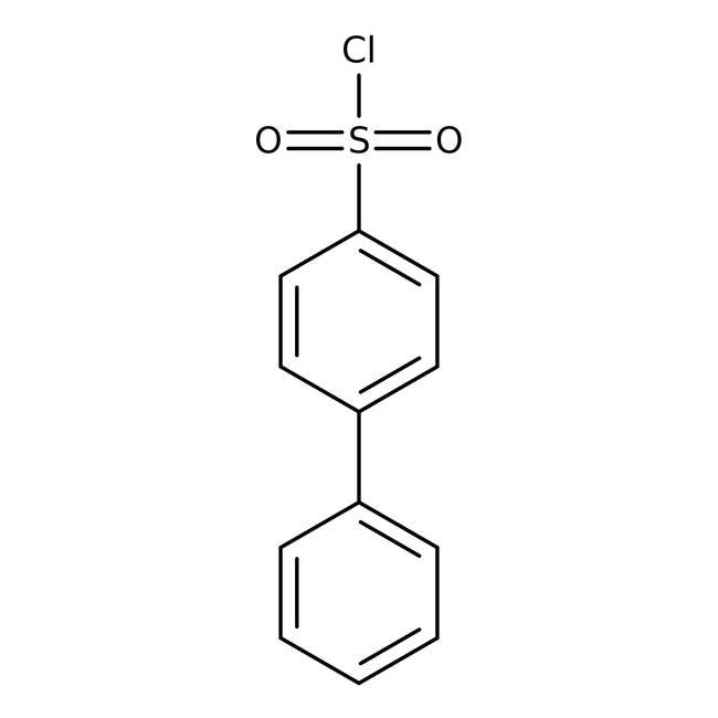 4-Biphenylsulfonyl chloride, 97%, ACROS Organics™ Glass bottle; 25g 4-Biphenylsulfonyl chloride, 97%, ACROS Organics™