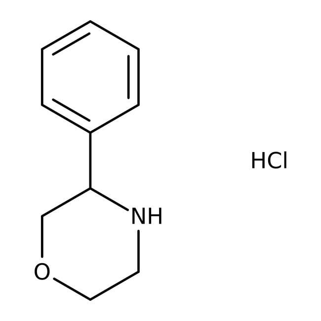 (R)-3-Phenylmorpholine hydrochloride, 97%, ACROS Organics™ 1g (R)-3-Phenylmorpholine hydrochloride, 97%, ACROS Organics™