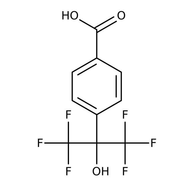 Alfa Aesar™4-(2-Hydroxyhexafluorisopropyl)benzoesäure, 97% 5g Alfa Aesar™4-(2-Hydroxyhexafluorisopropyl)benzoesäure, 97%