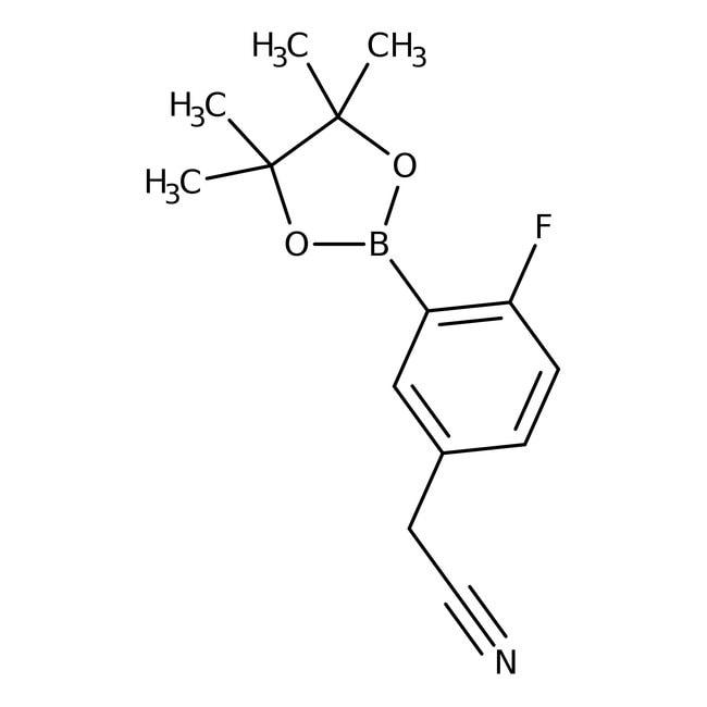 Alfa Aesar™5-Cyanomethyl-2-fluorobenzeneboronic acid pinacol ester, 96% 250mg Alfa Aesar™5-Cyanomethyl-2-fluorobenzeneboronic acid pinacol ester, 96%