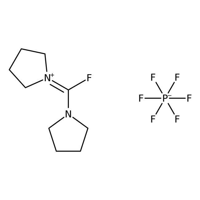 Fluoro-N,N,N',N'-bis(tetramethylene)formamidinium hexafluorophosphate, 97%, ACROS Organics™