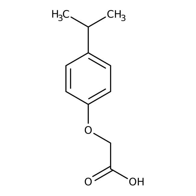 Alfa Aesar™Acide 4-isopropylphénoxyacétique, 98+ % 25g Alfa Aesar™Acide 4-isopropylphénoxyacétique, 98+ %