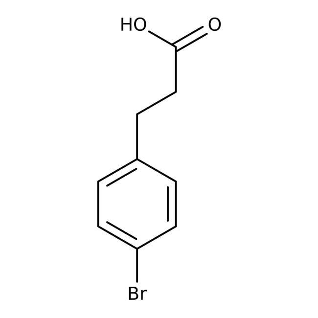 3-(4-Bromophenyl)propionic acid, 97%, ACROS Organics™ 5g; Glass bottle 3-(4-Bromophenyl)propionic acid, 97%, ACROS Organics™