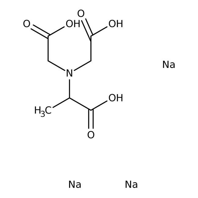 N,N-Bis(Carboxymethyl)-Dl-Alanine Trisodium Salt,  90.0%, Honeywell  Fluka