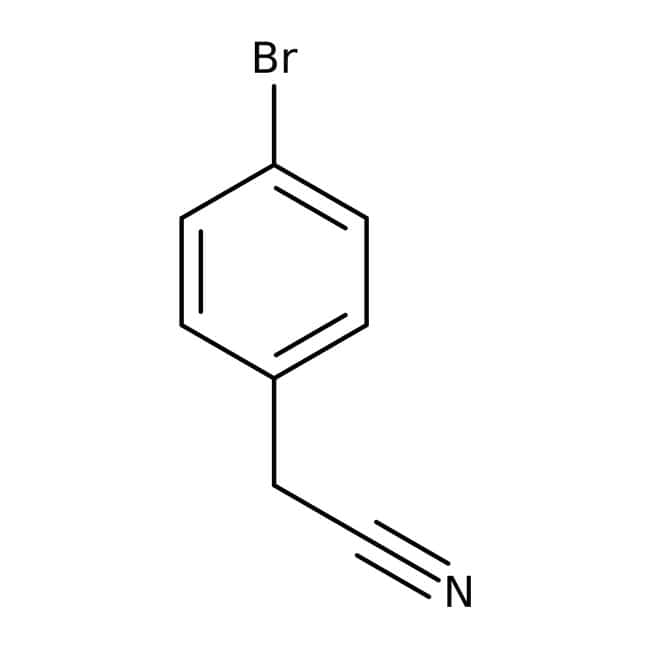 4-Bromophenylacetonitrile, 99%, ACROS Organics™ 25g; Glass bottle 4-Bromophenylacetonitrile, 99%, ACROS Organics™