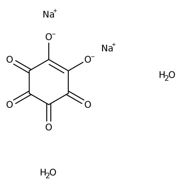 Rhodizonic acid, disodium salt dihydrate, ACROS Organics™ 1g Rhodizonic acid, disodium salt dihydrate, ACROS Organics™