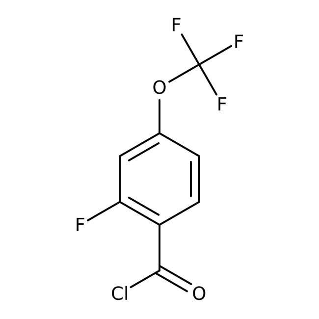 Alfa Aesar™2-Fluoro-4-(trifluoromethoxy)benzoyl chloride, 97% 1g Alfa Aesar™2-Fluoro-4-(trifluoromethoxy)benzoyl chloride, 97%