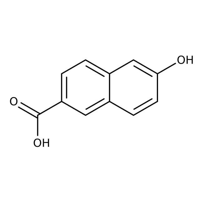6-Hydroxy-2-naphthoic acid, 98%, ACROS Organics™ 5g; Glass bottle 6-Hydroxy-2-naphthoic acid, 98%, ACROS Organics™