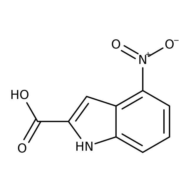 Alfa Aesar™4-Nitroindole-2-carboxylic acid, 97% 250mg Alfa Aesar™4-Nitroindole-2-carboxylic acid, 97%