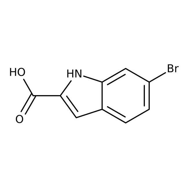 Alfa Aesar™6-Bromoindole-2-carboxylic acid, 97% 5g Alfa Aesar™6-Bromoindole-2-carboxylic acid, 97%