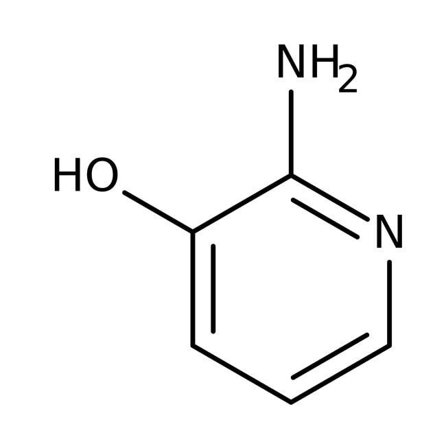 2-Amino-3-hydroxypyridine, 98%, ACROS Organics™ 25g; Glass bottle 2-Amino-3-hydroxypyridine, 98%, ACROS Organics™