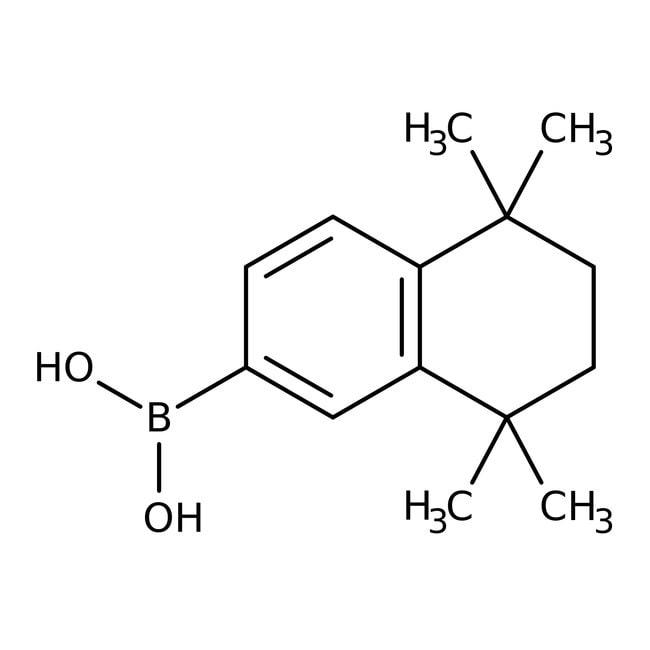 Alfa Aesar™5,5,8,8-Tetramethyl-5,6,7,8-tetrahydronaphthalene-2-boronic acid, 98% 5g Alfa Aesar™5,5,8,8-Tetramethyl-5,6,7,8-tetrahydronaphthalene-2-boronic acid, 98%