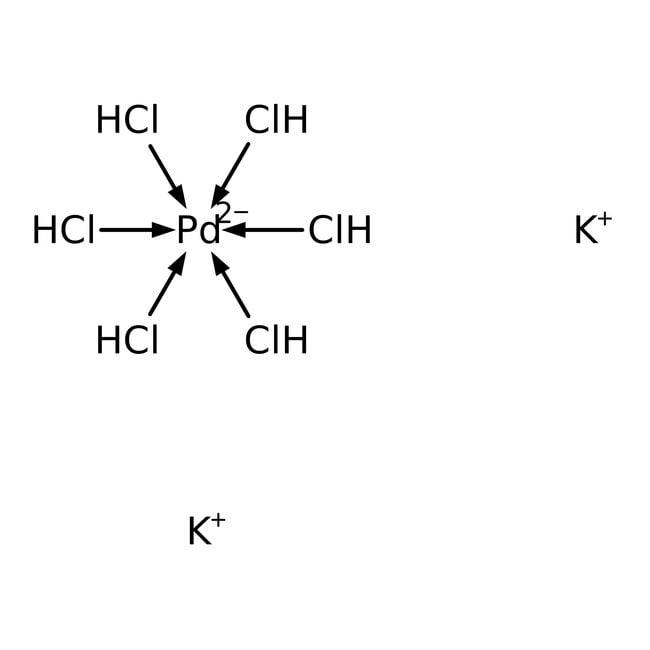 Alfa Aesar™Potassium hexachloropalladate(IV), Pd 26.3% min 5g Alfa Aesar™Potassium hexachloropalladate(IV), Pd 26.3% min