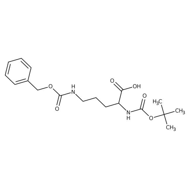 Alfa Aesar™Ndelta-Benzyloxycarbonyl-Nalpha-Boc-D-Ornithin, 98% 1g Alfa Aesar™Ndelta-Benzyloxycarbonyl-Nalpha-Boc-D-Ornithin, 98%