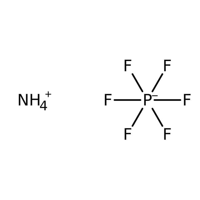 Ammonium hexafluorophosphate, 99%, pure, ACROS Organics™ 25g Ammonium hexafluorophosphate, 99%, pure, ACROS Organics™