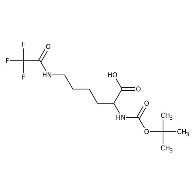 Alfa Aesar™Nalpha-Boc-Nepsilon-trifluoroacetyl-L-lysine, 95% 5g Alfa Aesar™Nalpha-Boc-Nepsilon-trifluoroacetyl-L-lysine, 95%