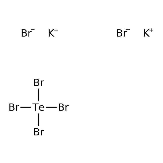 Alfa Aesar™Potassium hexabromotellurate(IV), 99.99% (metals basis) 100g Alfa Aesar™Potassium hexabromotellurate(IV), 99.99% (metals basis)