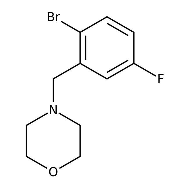 Alfa Aesar™4-(2-Brom-5-fluorbenzyl)morpholin, 96% 1g Alfa Aesar™4-(2-Brom-5-fluorbenzyl)morpholin, 96%