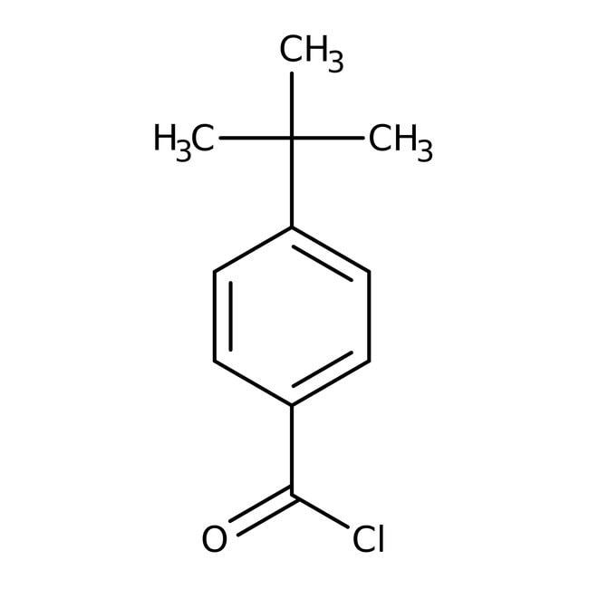 4-tert-Butylbenzoyl chloride, 98%, ACROS Organics™ 25g; Glass bottle 4-tert-Butylbenzoyl chloride, 98%, ACROS Organics™