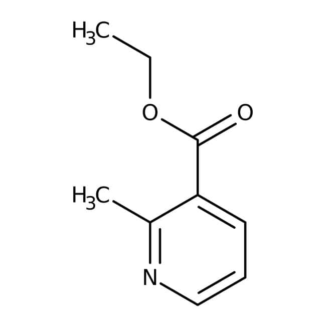 Ethyl 2-methylnicotinate, 97%, ACROS Organics™ 5g; Glass bottle Ethyl 2-methylnicotinate, 97%, ACROS Organics™