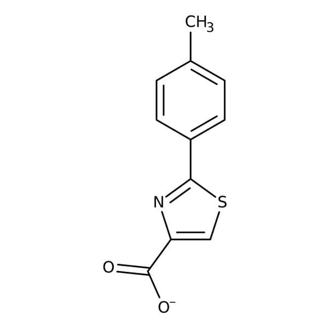 2-(4-Methylphenyl)-1,3-thiazol-4-carboxylsäure, 97 %, Maybridge Braunglasflasche, 1 g 2-(4-Methylphenyl)-1,3-thiazol-4-carboxylsäure, 97 %, Maybridge