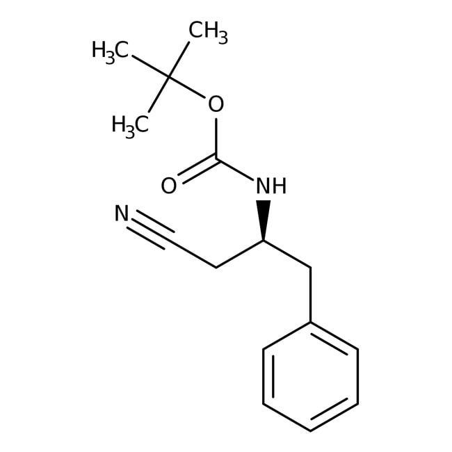(S)-N-BOC-2-Amino-3-phenylpropyl cyanide, 97+%, ACROS Organics™ 5g; Glass bottle (S)-N-BOC-2-Amino-3-phenylpropyl cyanide, 97+%, ACROS Organics™
