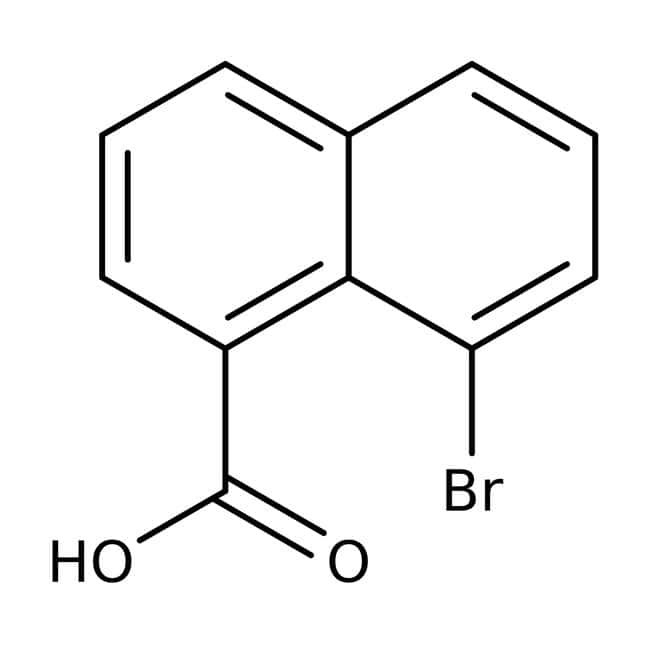 8-Bromo-1-naphthoic acid, Technical Grade, Maybridge Amber Glass Bottle; 10g 8-Bromo-1-naphthoic acid, Technical Grade, Maybridge