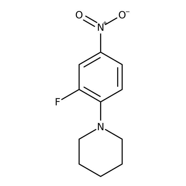 Alfa Aesar  1-(2-Fluoro-4-nitrophenyl)piperidine, 97%