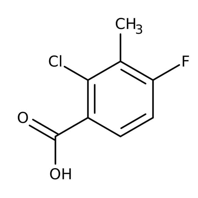 Alfa Aesar™2-Chlor-4-fluor-3-Methylbenzoesäure, 97% 250mg Alfa Aesar™2-Chlor-4-fluor-3-Methylbenzoesäure, 97%