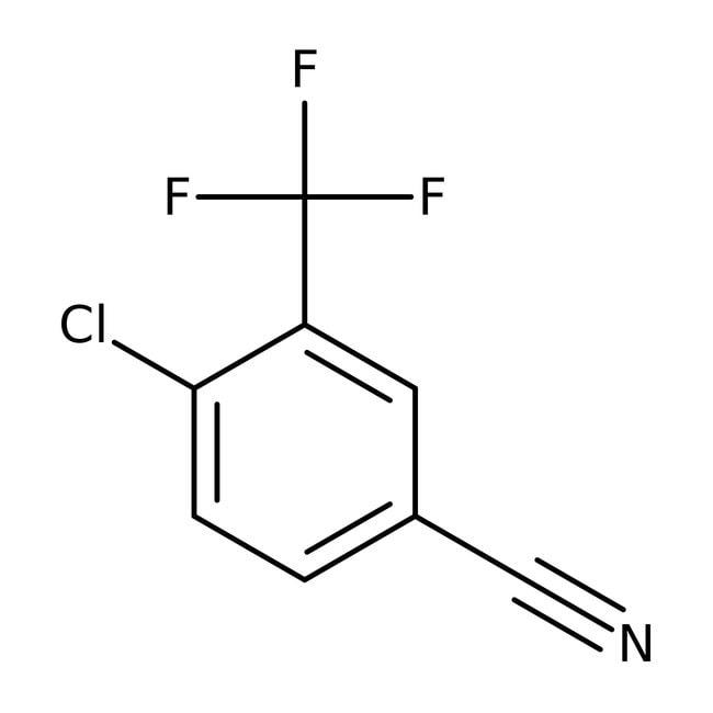Alfa Aesar™4-Cloro-3-(trifluorometil)benzonitrilo, 97% 1g Alfa Aesar™4-Cloro-3-(trifluorometil)benzonitrilo, 97%